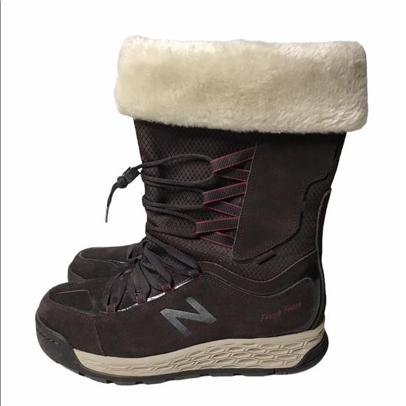 New Balance Brown Fresh Foam Winter Boots 9